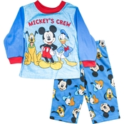 Disney Infant Boys Mickey Mouse Mickey's Crew 2 pc. Pajama Set