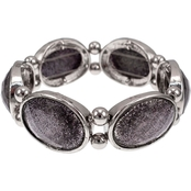Carol Dauplaise Faceted Oval Stretch Bracelet