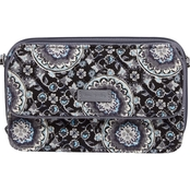Vera Bradley Iconic RFID All in One Crossbody, Charcoal Medallion