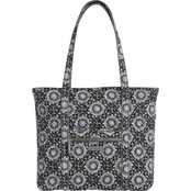 Vera Bradley Iconic Large Vera Tote, Charcoal Medallion