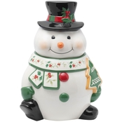 Pfaltzgraff Winterberry Snowman Cookie Jar 10 in.