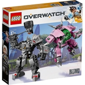 LEGO Overwatch D.Va and Reinhardt