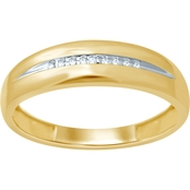 10K Yellow Gold .04 CTW Gents Band
