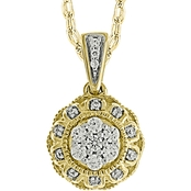 10K Yellow Gold 1/5 CTW Diamond Pendant