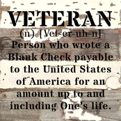 Uniformed Veteran Definition 8 x 8 Sign