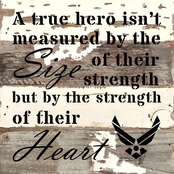 Uniformed Sign of a True Hero 8x8 in. Reclaimed Wood Sign