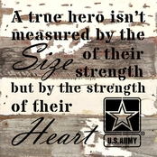 Uniformed Army A True Hero Sign