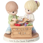 Precious Moments Love Is Our Secret Ingredient Bisque Porcelain Figurine