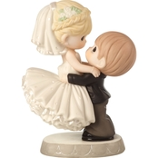 Precious Moments Best Day Ever Wedding Cake Topper Figurine