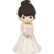 Precious Moments Mix and Match Bride Figurine, Black Hair, Light Skin Tone
