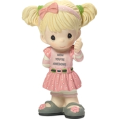 Precious Moments Mom You're Awesome Girl Figurine