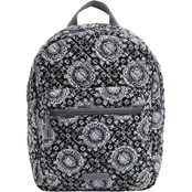 Vera Bradley Iconic Leighton Backpack Charcoal Medallion
