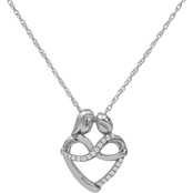Sterling Silver 1/10 CTW Infinity Heart Pendant