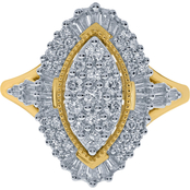 10K Yellow Gold 1 CTW Fashion Ring
