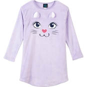 Jelli Fish Kids Girls Cat Sleep Gown with 3D Ears