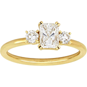 Diamore 14K Yellow Gold 1 CTW Diamond 3 Stone Engagement Ring