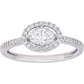 Diamore 14K White Gold 3/4 CTW Diamond Floating Halo Engagement Ring
