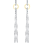 Sterling Silver and 10K Yellow Gold Diamond Accent Fashion Earrings