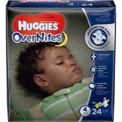 Huggies OverNites Diapers Size 4 (22-37 lb.) 24 ct.