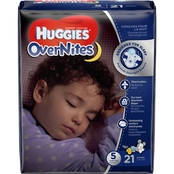Huggies OverNites Diapers Size 5 (27+ lb.) 21 ct.