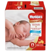 Huggies Little Snugglers Diapers Size Newborn (up to 10 lb.) 88 ct.