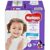 Huggies Little Movers Diapers Size 4 (22-37 lb.) 74 ct.