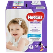 Huggies Little Movers Diapers Size 5 (27+ lb.) 66 ct.