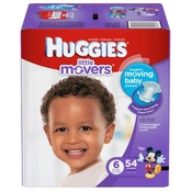 Huggies Little Movers Diapers Size 6 (35+ lb.) 54 ct.
