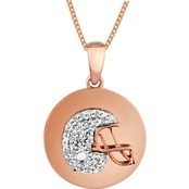 10K Rose Gold Over Sterling Silver 1/10 CTW Diamond Football Pendant