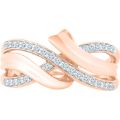 10K Rose Gold 1/5 CTW Fashion Ring