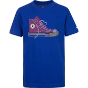 Converse Boys Chuck Taylor Pixel Shoe Graphic Tee