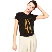 Armani Exchange Metallic AX Logo Tee