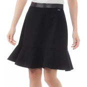 Armani Exchange Wool Flannel Flutter Skirt