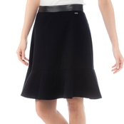 Armani Exchange Belted Crepe Mini Skirt
