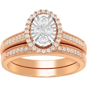10K Rose Gold 1/2 CTW Diamond Ring, Size 7