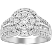 10K White Gold 1 CTW Diamond Ring