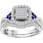 Traditions in Blue 10K White Gold 5/8 CTW Diamond Bridal Set