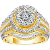 10K Yellow Gold 1 1/2 CTW Engagement Ring
