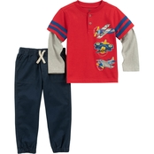 Kids Headquarters Infant Boys Airplane 2 pc. Tee Set