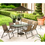 Courtyard Creations Arrowhead 10 pc. Sling Folding Dining Set