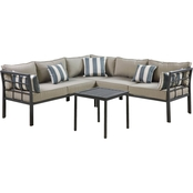 Courtyard Creations Mission Ridge Sectional Sofa 4 pc. Set
