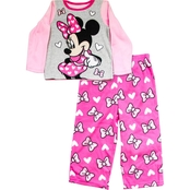 Disney Infant Girls Happy Minnie Mouse 2 Pc. Pajama Set