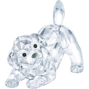 Swarovski Labrador Puppy Playing Figurine