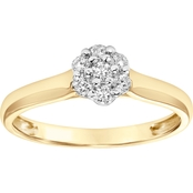 10K Yellow Gold 1/5 ct. Diamond Engagement Ring, Size 7