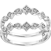 10K White Gold 1/6 ct. Diamond Enhancer Ring