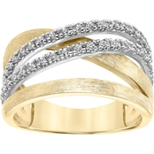 10K Yellow Gold 1/5 ct. Diamond Ring, Size 7