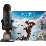 Blue Mic Yeti Assassin's Creed Odyssey Streamer Game Code USB Mic Bundle
