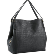 Bueno of California Vintage Grain Croco Satchel<br/>