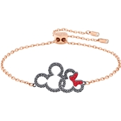 Swarovski Mickey and Minnie Mouse Rose Goldtone Bracelet