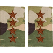 Air Force Officer Rank General Velcro Pt-Ct O-10 (OCP)